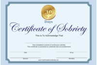 Certificate Of Sobriety Templates Pdf. Download Fill And throughout Fresh Certificate Of Sobriety Template Free