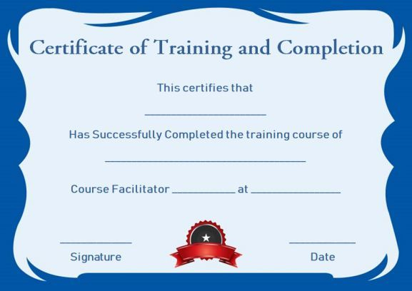 Certificate Of Training Completion Template Free | Training with Unique Training Completion Certificate Template 10 Ideas