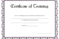 Certificate Of Training Printable Certificate | Training pertaining to Unique Dog Training Certificate Template