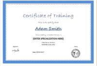 Certificate Of Training Template For Ms Word | Document Hub in Training Course Certificate Templates