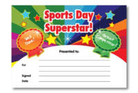 Certificate: Sports Day Superstar | Sports Day Certificates inside Sports Day Certificate Templates
