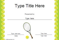 Certificate Street: Free Award Certificate Templates – No for Fresh Tennis Achievement Certificate Templates
