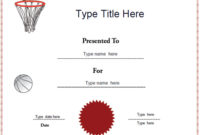Certificate Street: Free Award Certificate Templates – No pertaining to Best Netball Participation Certificate Editable Templates