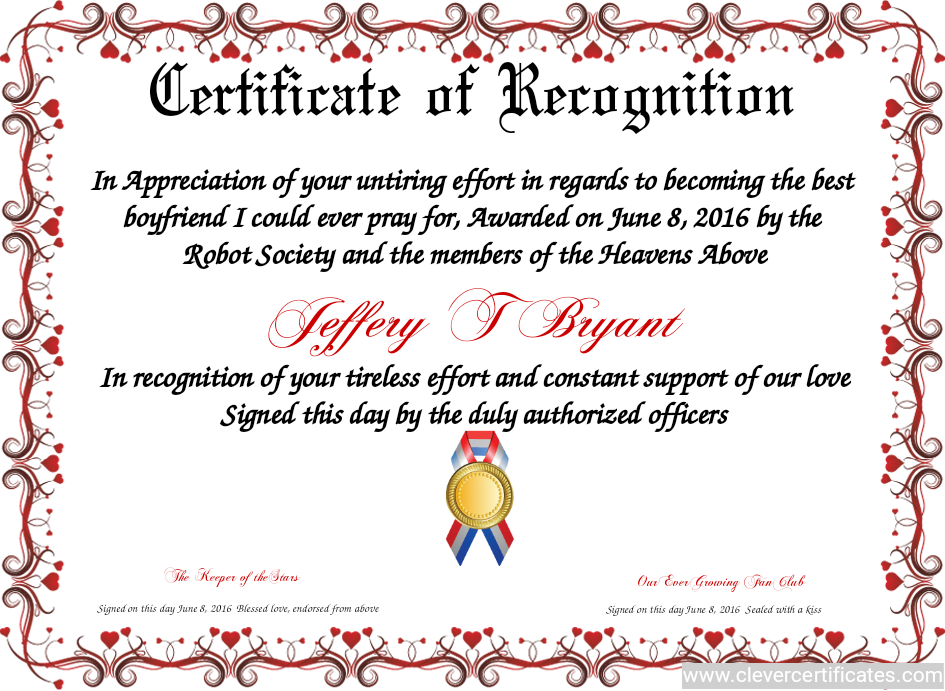 Certificate Template | Certificate Design | Certificate Of Intended For Recognition Certificate Editable