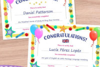 Certificate Template – Editable Diploma For Kids – Tea Time with Best Pre K Diploma Certificate Editable Templates