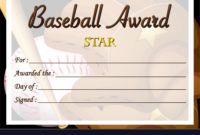 Certificate Template For Baseball Award Royalty Free Vector with Baseball Award Certificate Template