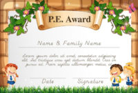Certificate Template For Pe Award – Download Free Vectors within Unique Pe Certificate Templates