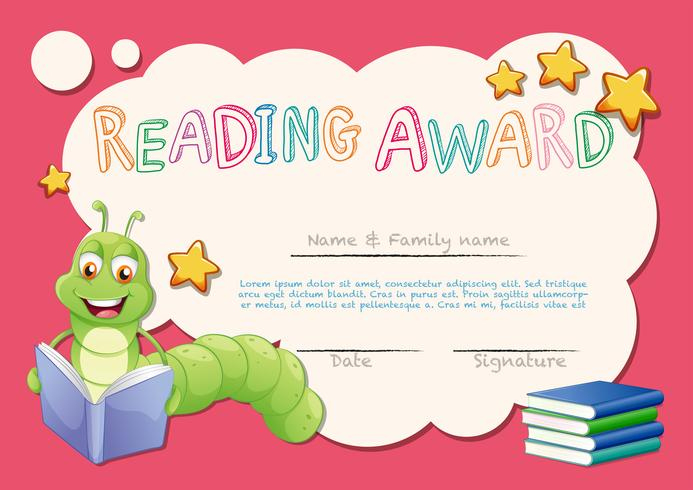 Certificate Template For Reading Award - Download Free For Star Reader Certificate Template