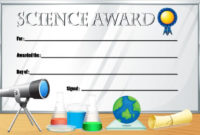 Certificate Template For Science Award – Download Free with Science Award Certificate Templates