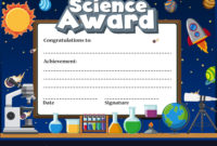 Certificate Template For Science Award Royalty Free Vector in Unique Science Award Certificate Templates