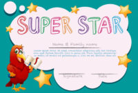 Certificate Template For Super Star – Download Free Vectors for Unique Star Reader Certificate Template Free
