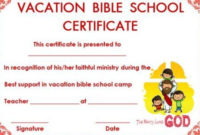 Certificate Template For Vbs | Bible School, Certificate throughout Vbs Certificate Template