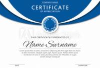 Certificate Template In Elegant Blue Color With Medal And for Winner Certificate Template Free 12 Designs