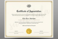 Certificate Template, Instant Download, Diploma Template regarding Editable Certificate Of Appreciation Templates