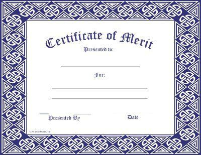 Certificate Template | Merit Award | Certificate Templates Inside Certificate Of Merit Templates Editable