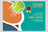 Certificate Template Stock Vector. Illustration Of for Best Table Tennis Certificate Templates Free 10 Designs
