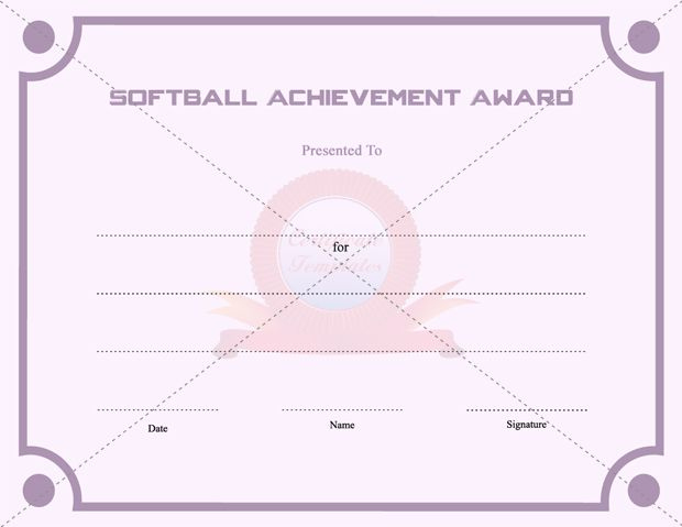 Certificate Templates - Free Printable Certificate Templates Inside 10 Free Printable Softball Certificate Templates