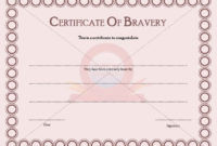 Certificate Templates – Page 2 Of 30 – Choose From Hundreds in Bravery Award Certificate Templates