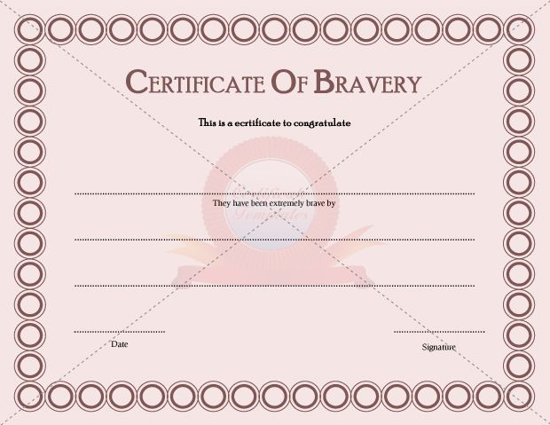 Certificate Templates - Page 2 Of 30 - Choose From Hundreds In Bravery Award Certificate Templates