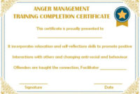 Certificates Archives – Page 74 Of 122 – Template Sumo in Best Anger Management Certificate Template