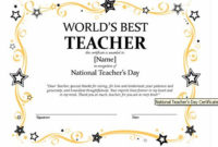 Certificates For Teachers: The World'S Best Teacher Award for Teacher Appreciation Certificate Free Printable