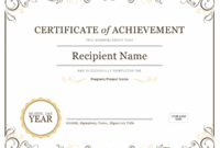Certificates – Office intended for Certificate Of Completion Templates Editable