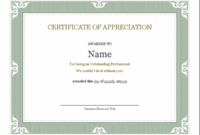Certificates – Office with Fresh Certificate Of Recognition Template Word