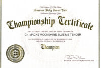 Champion Macks Regarding Certificate Of Championship