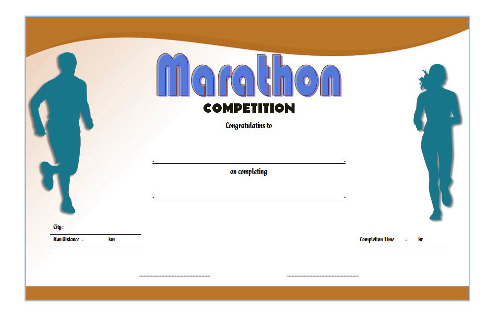 Chicago Marathon Finisher Certificate Free Printable 2 In with regard to Marathon Certificate Template 7 Fun Run Designs