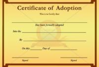 Child Adoption Certificate Template (2) – Templates Example within Unique Child Adoption Certificate Template Editable
