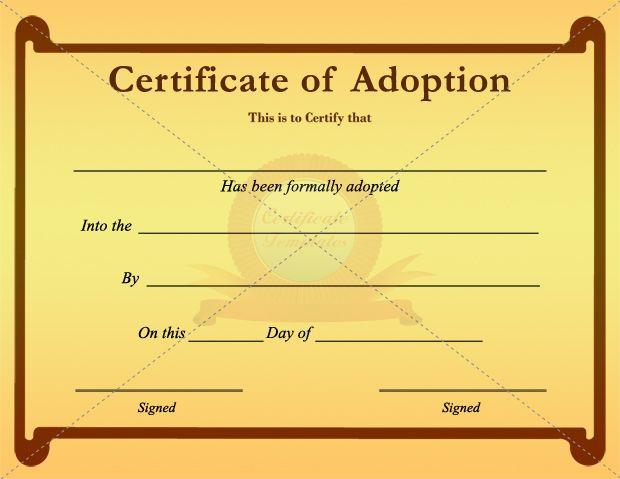Child Adoption Certificate Template (2) - Templates Example Within Unique Child Adoption Certificate Template Editable