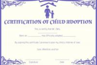 Child Adoption Certificate Template (8) – Templates Example regarding Unique Child Adoption Certificate Template Editable