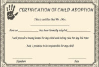 Child Adoption Certificates: 10 Free Printable And with regard to Unique Child Adoption Certificate Template Editable