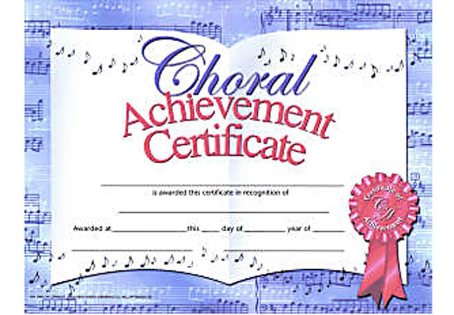Choir Certificate Template In 2020   Certificate Templates inside Free Choir Certificate Templates 2020 Designs