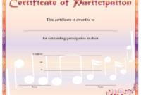 Choir Participation Certificate Printable Certificate in Fresh Free Choir Certificate Templates 2020 Designs
