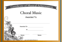Choral Music Achievements Are Celebrated With Intricate regarding Fresh Free Choir Certificate Templates 2020 Designs
