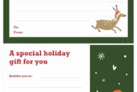 Christmas Gift Certificate (Christmas Spirit Design) throughout Unique Christmas Gift Certificate Template Free