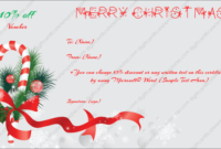 Christmas Gift Certificate Template 6 – Gift Template within Christmas Gift Certificate Template Free