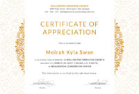 Church-Certificate-For-Appreciation-Editable-Template-Design intended for Fresh Editable Certificate Of Appreciation Templates