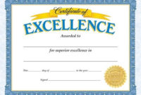 Classic Certificates, Certificate Of Excellence, T11301 inside Honor Award Certificate Templates