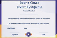 Coach Certificate Of Appreciation: 9 Professional Templates throughout Best Coach Certificate Template