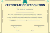 Coach Certificate Of Appreciation: 9 Professional Templates with Best Best Coach Certificate Template