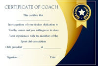 Coach Certificate Of Appreciation: 9 Professional Templates with regard to Best Coach Certificate Template