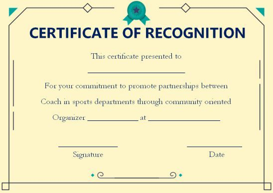 Coach Certificate Of Appreciation: 9 Professional Templates With Regard To Fresh Outstanding Performance Certificate Template