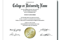 College Graduation Certificate Template (5) – Templates with regard to Best Certificate Of Job Promotion Template 7 Ideas