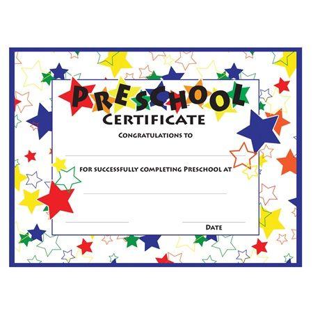 Color Craze Stars Preschool Certificates, 30/Pkg In Best Pre Kindergarten Diplomas Templates Printable Free