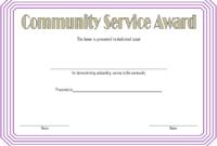 Community Service Award Certificate Template Free 2 In 2020 with Community Service Certificate Template Free Ideas