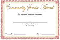 Community Service Certificate Template Free: 12+ Best Ideas regarding Fresh Community Service Certificate Template Free Ideas