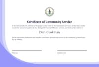 Community Service Certificate Template – Pdf Templates | Jotform throughout Fresh Community Service Certificate Template Free Ideas