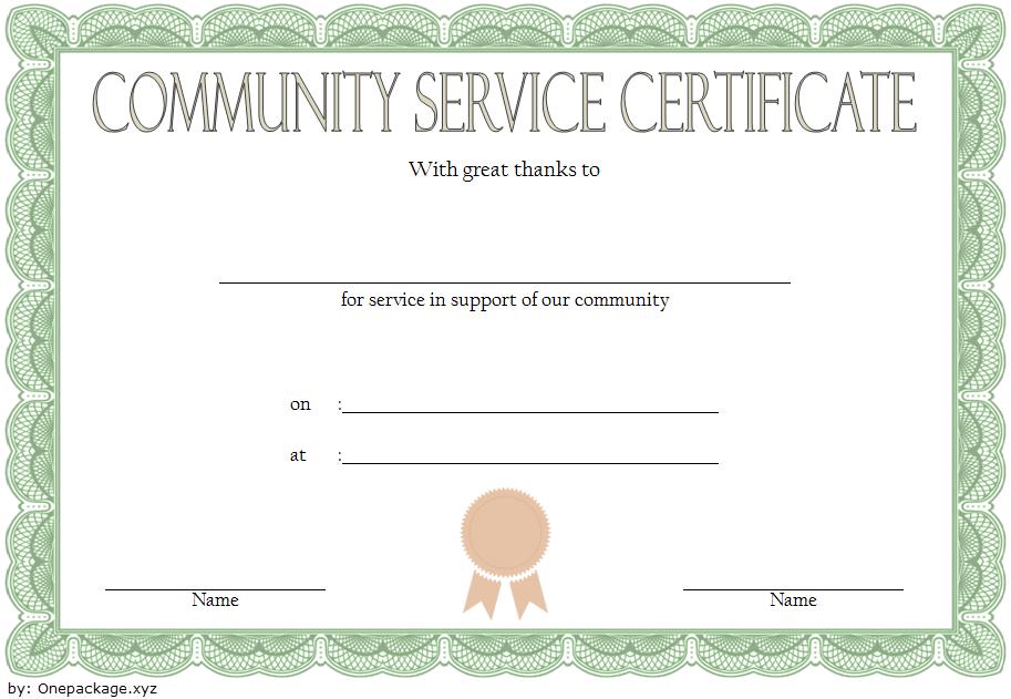 Community Service Hours Certificate Template Free 1 In 2020 In Years Of Service Certificate Template Free 11 Ideas